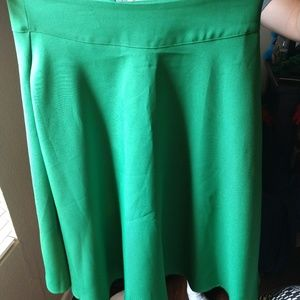NWT Unique Vintage Circle Skirt in Green XL